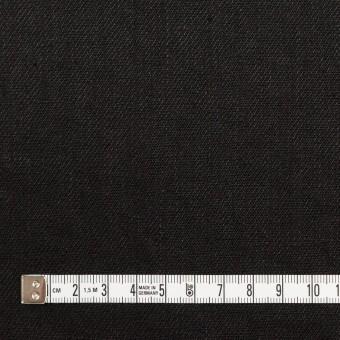 リネン×無地(ブラック)×サージ_全6色 サムネイル4