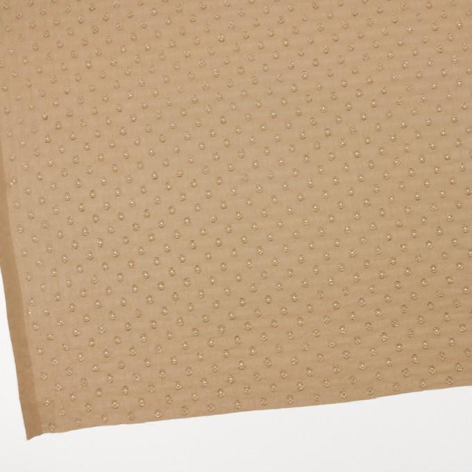 ポリエステル×ドット(オークル)×ジョーゼット・カットジャガード_全3色 イメージ2