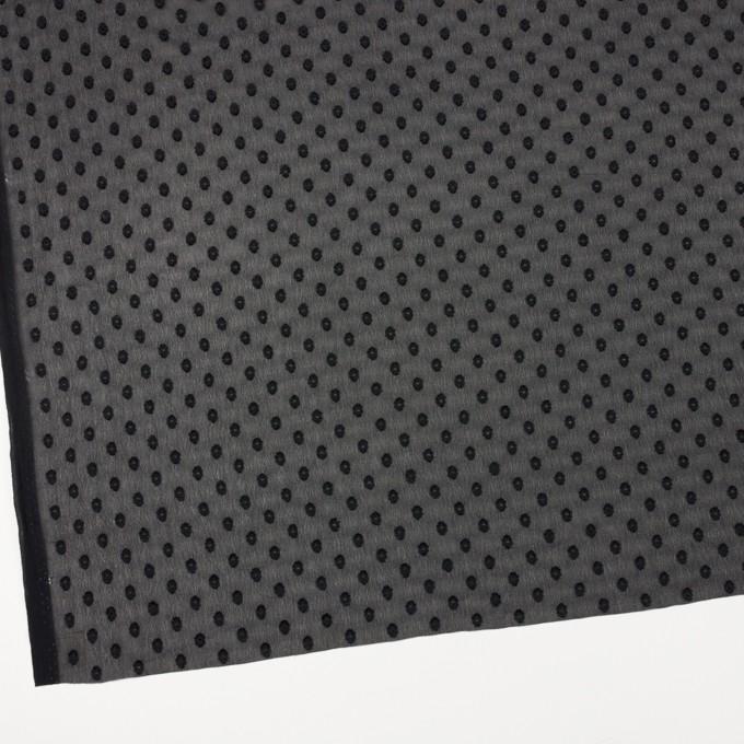 ポリエステル×ドット(ブラック)×ジョーゼット・カットジャガード_全3色 イメージ2