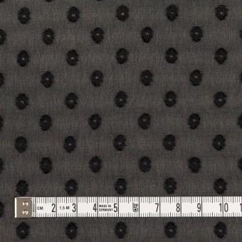 ポリエステル×ドット(ブラック)×ジョーゼット・カットジャガード_全3色 サムネイル4