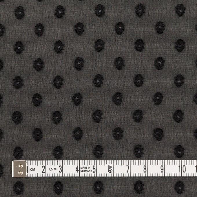ポリエステル×ドット(ブラック)×ジョーゼット・カットジャガード_全3色 イメージ4