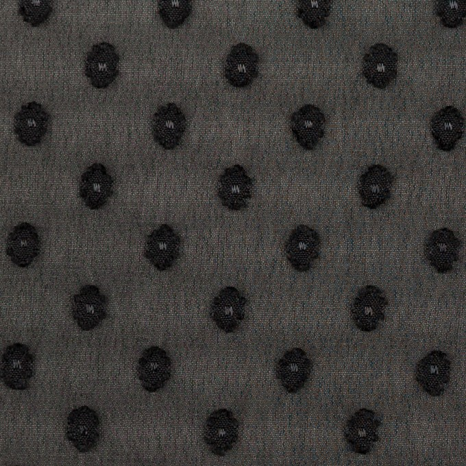 ポリエステル×ドット(ブラック)×ジョーゼット・カットジャガード_全3色 イメージ1