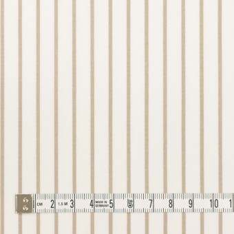 コットン×ストライプ(カーキベージュ)×ポプリン_全2色 サムネイル4