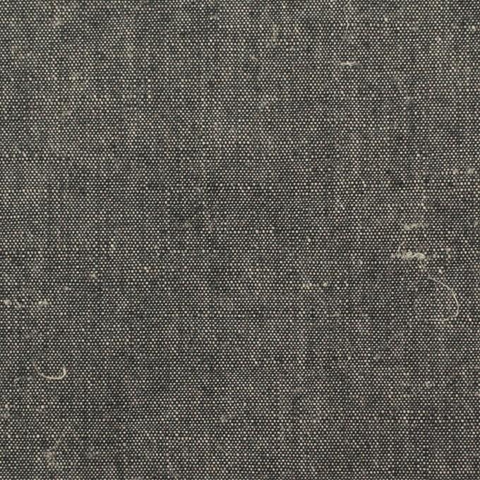 リネン&コットン×無地(チャコール)×キャンバス イメージ1