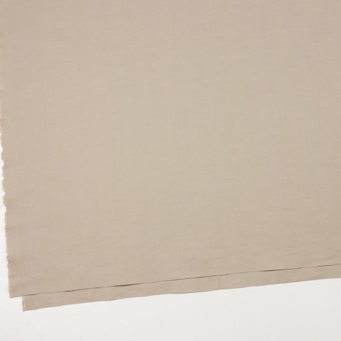 コットン&ポリエステル×無地(カーキベージュ)×かわり織_全3色_イタリア製 イメージ2