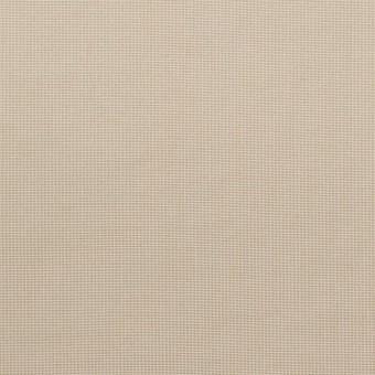 コットン&ポリエステル×無地(カーキベージュ)×かわり織_全3色_イタリア製
