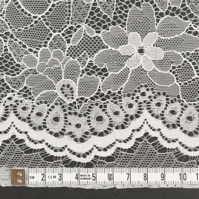 ナイロン&ポリエステル×フラワー(ホワイト)×ラッセルレース_全3色 イメージ3
