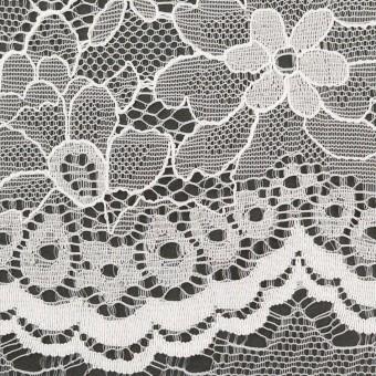 ナイロン&ポリエステル×フラワー(ホワイト)×ラッセルレース_全3色 サムネイル1