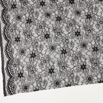 ナイロン&ポリエステル×フラワー(ブラック)×ラッセルレース_全3色 サムネイル2