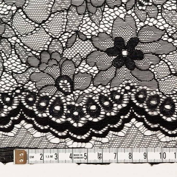 ナイロン&ポリエステル×フラワー(ブラック)×ラッセルレース_全3色 イメージ3