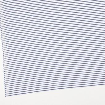 コットン×ボーダー(ブルー)×かわり織 サムネイル2