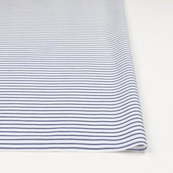 コットン×ボーダー(ブルー)×かわり織 サムネイル3