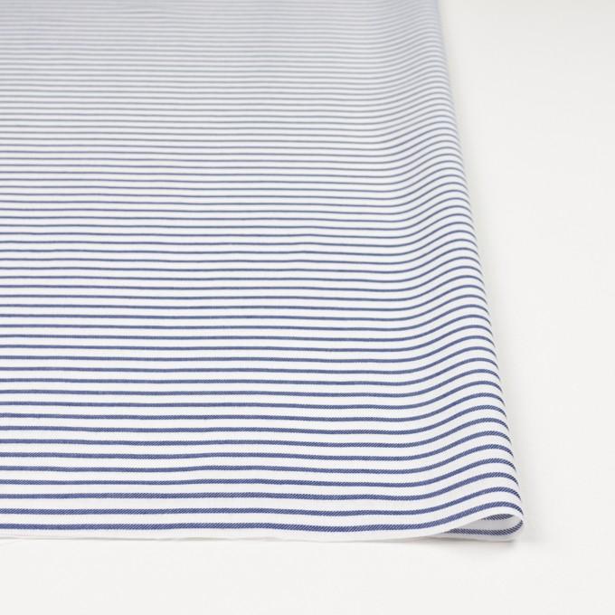 コットン×ボーダー(ブルー)×かわり織 イメージ3