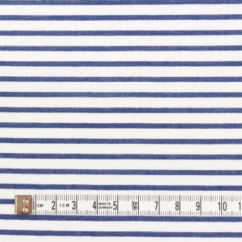 コットン×ボーダー(ブルー)×かわり織 サムネイル4
