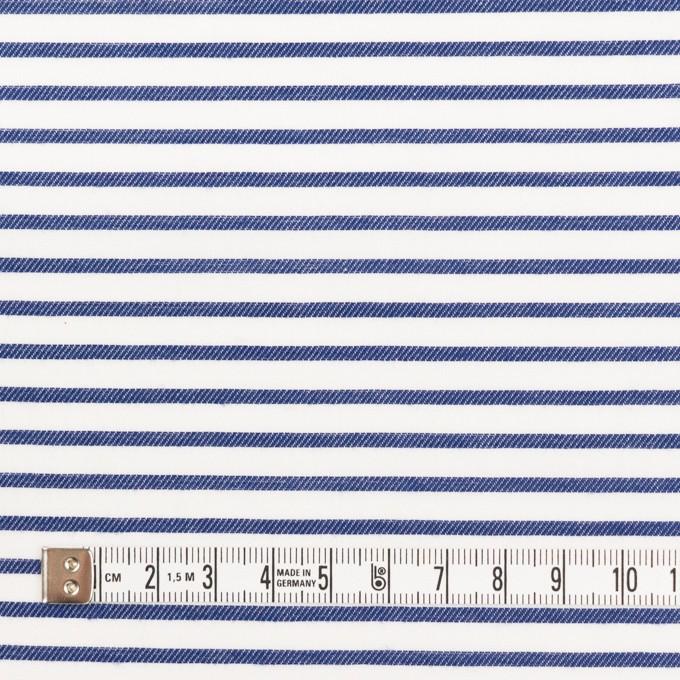 コットン×ボーダー(ブルー)×かわり織 イメージ4
