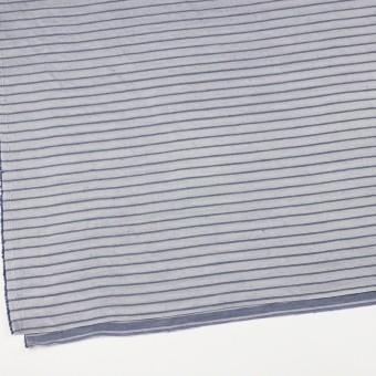 リネン&レーヨン×ボーダー(ネイビーグレー)×かわり織 サムネイル2