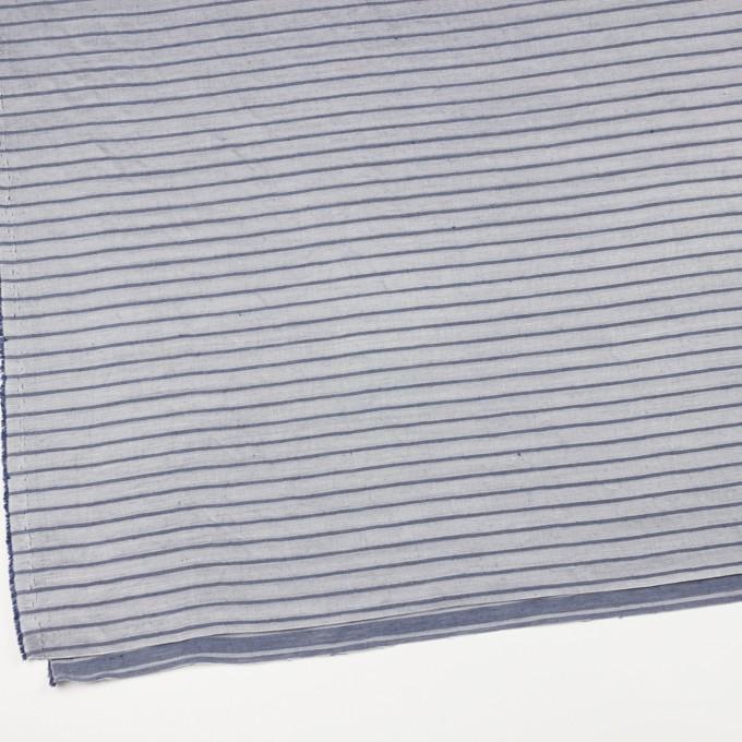リネン&レーヨン×ボーダー(ネイビーグレー)×かわり織 イメージ2