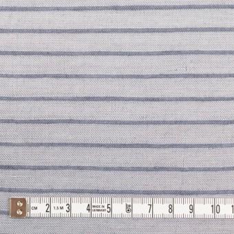 リネン&レーヨン×ボーダー(ネイビーグレー)×かわり織 サムネイル4