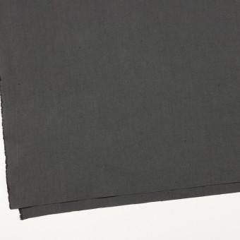 コットン&リネン×無地(チャコールグレー)×厚オックスフォード・ワッシャー_イタリア製 サムネイル2