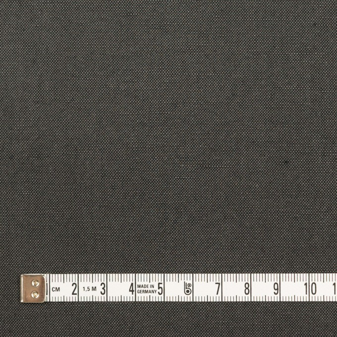 コットン&リネン×無地(チャコールグレー)×厚オックスフォード・ワッシャー_イタリア製 イメージ4