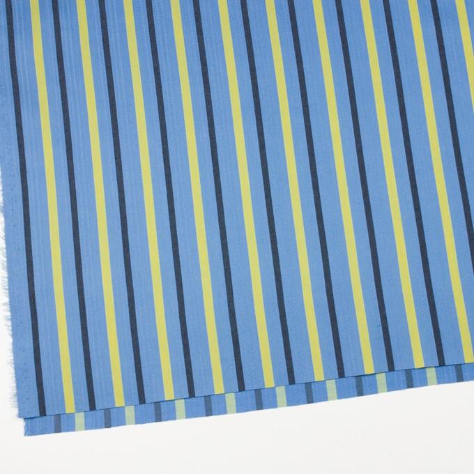 テンセル×ストライプ(サックス、イエロー&ブラック)×サージジャガード_全2色 イメージ2
