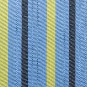 テンセル×ストライプ(サックス、イエロー&ブラック)×サージジャガード_全2色