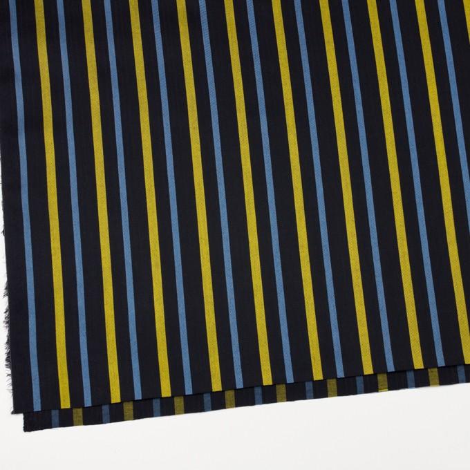 テンセル×ストライプ(ブラック、イエロー&サックス)×サージジャガード_全2色 イメージ2