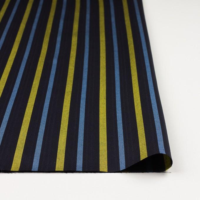 テンセル×ストライプ(ブラック、イエロー&サックス)×サージジャガード_全2色 イメージ3