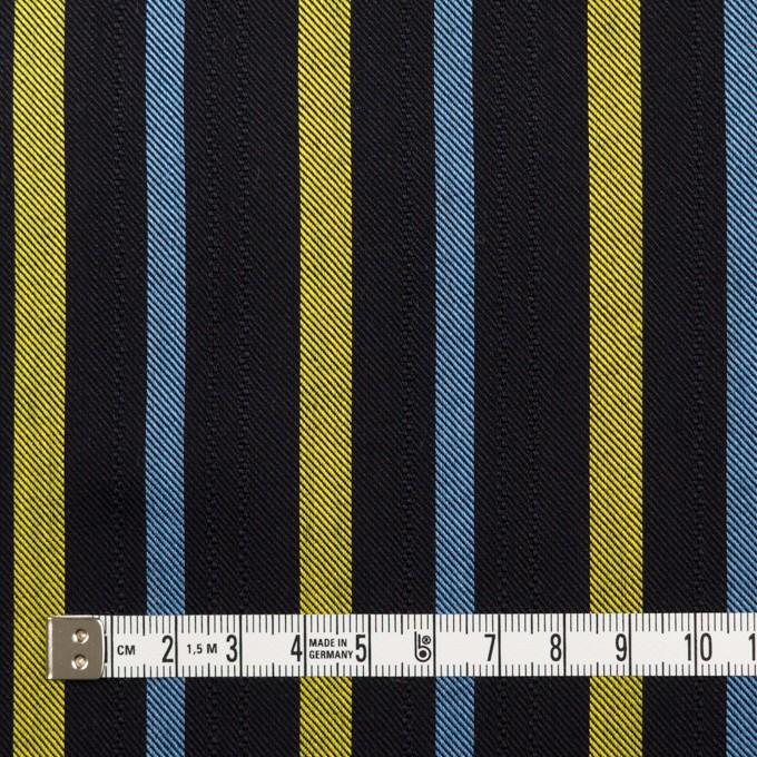 テンセル×ストライプ(ブラック、イエロー&サックス)×サージジャガード_全2色 イメージ4