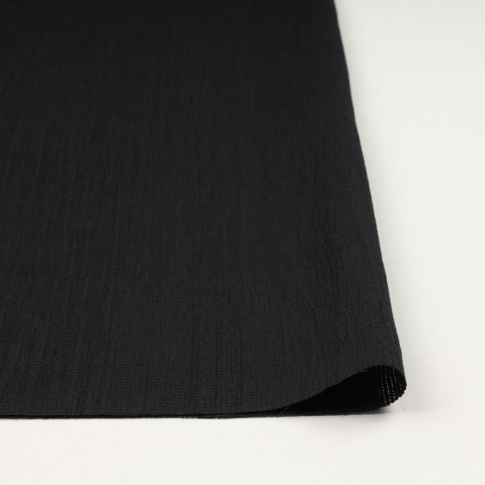 リネン&コットン×無地(ブラック)×かわり織ワッシャー_全4色 イメージ3