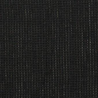 リネン&コットン×無地(ブラック)×かわり織ワッシャー_全4色