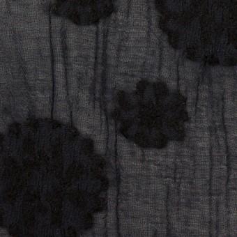 コットン&ナイロン×フラワー(ダークネイビー)×ヨウリュウ・カットジャガード