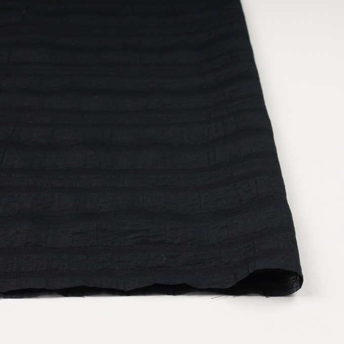 コットン&ナイロン×ボーダー(ブラック)×オーガンジー・ジャガード イメージ3