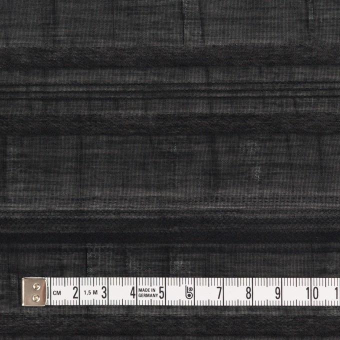 コットン&ナイロン×ボーダー(ブラック)×オーガンジー・ジャガード イメージ4
