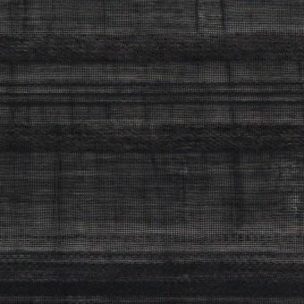 コットン&ナイロン×ボーダー(ブラック)×オーガンジー・ジャガード