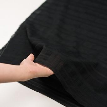 コットン&ナイロン×ボーダー(ブラック)×オーガンジー・ジャガード サムネイル5