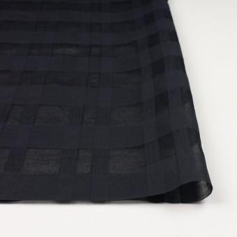 シルク&コットン×チェック(ブラック)×オーガンジー サムネイル3