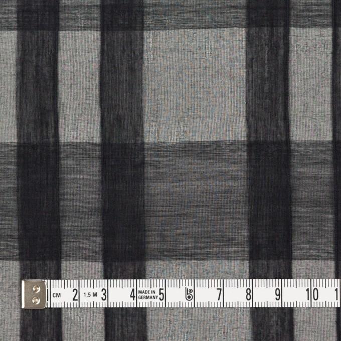 シルク&コットン×チェック(ブラック)×オーガンジー イメージ4