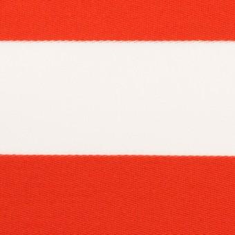 コットン×ボーダー(バーミリオン)×Wニット_全3色