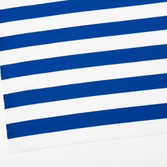 コットン×ボーダー(ブルー)×Wニット_全3色 サムネイル2