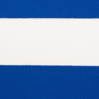 コットン×ボーダー(ブルー)×Wニット_全3色