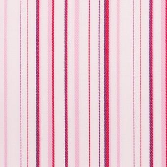 コットン×ストライプ(ピンク)×ブロードジャガード