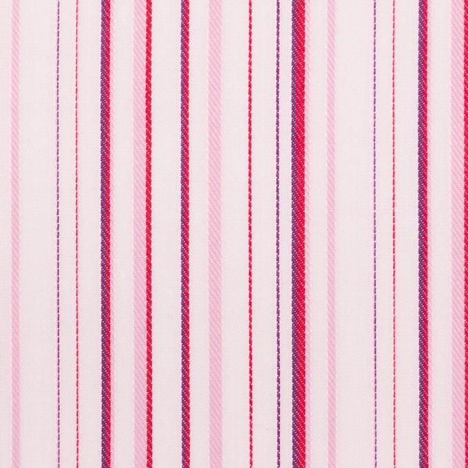 コットン×ストライプ(ピンク)×ブロードジャガード イメージ1