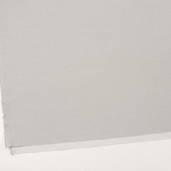 コットン×無地(ライトグレー)×二重織_イタリア製 イメージ2