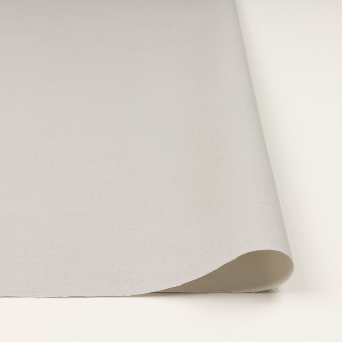 コットン×無地(ライトグレー)×二重織_イタリア製 イメージ3