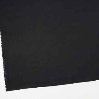 リネン×無地(ブラック)×サージ_イタリア製 サムネイル2