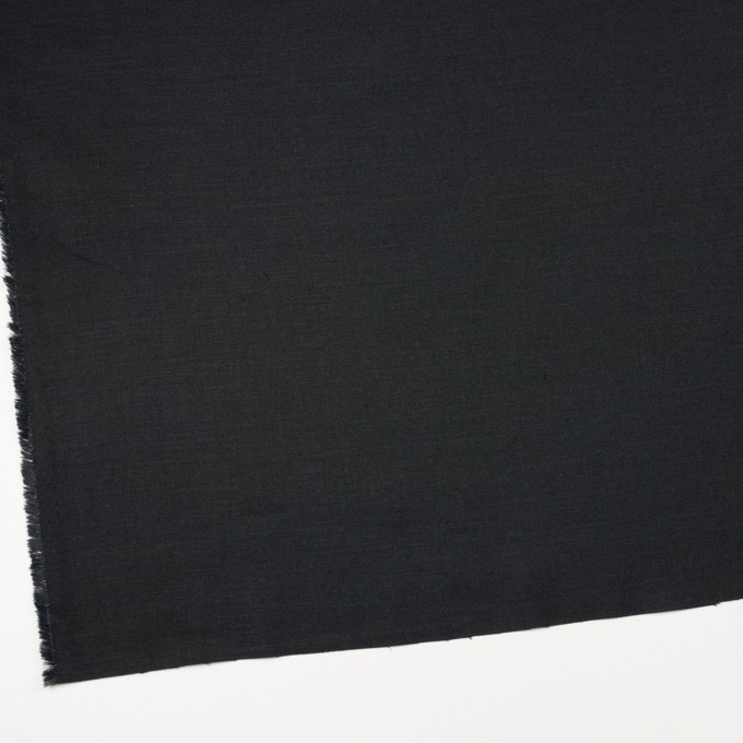 リネン×無地(ブラック)×サージ_イタリア製 イメージ2