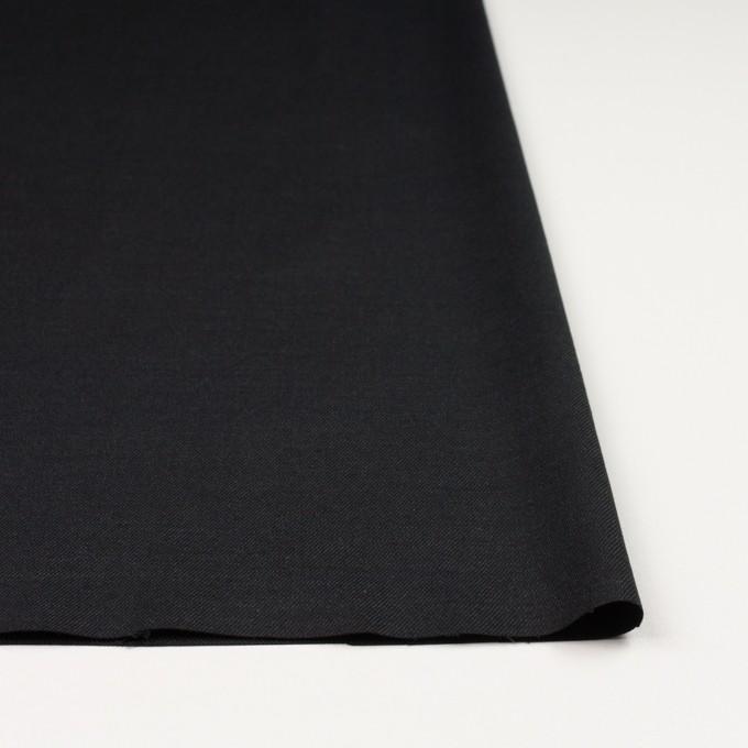 リネン×無地(ブラック)×サージ_イタリア製 イメージ3