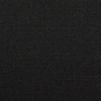リネン×無地(ブラック)×サージ_イタリア製 サムネイル1