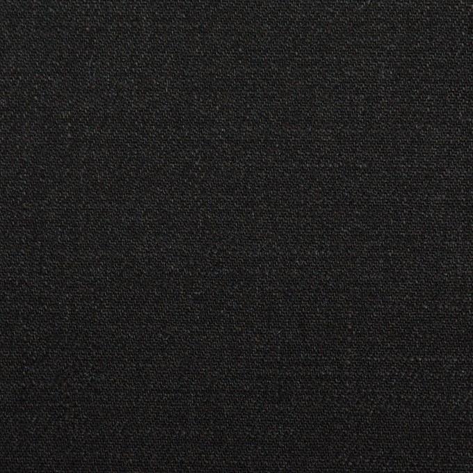 リネン×無地(ブラック)×サージ_イタリア製 イメージ1